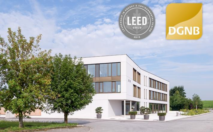 Unique – the double-certified administration building with DGNB and LEED certificates
