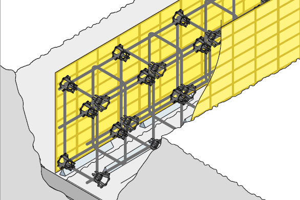 Avoid loss of cover caused by formwork deflection