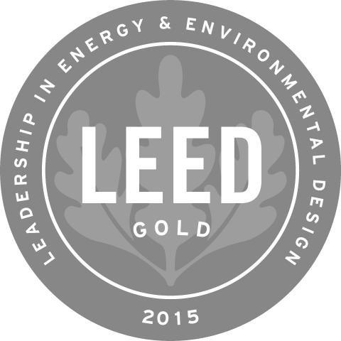 LEED certificate in gold