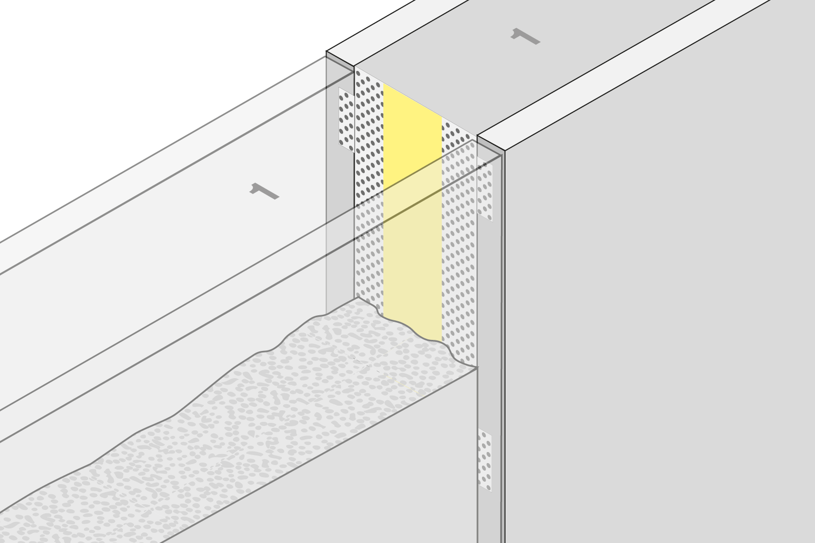 Controlled Crack Joint Formwork Element - Element Wall