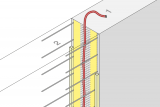 Controlled Crack Joint Formwork Element With Injection Hose - Wall
