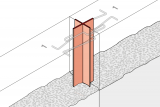 Controlled Crack Joint With Coated Metal Waterstop - Wall