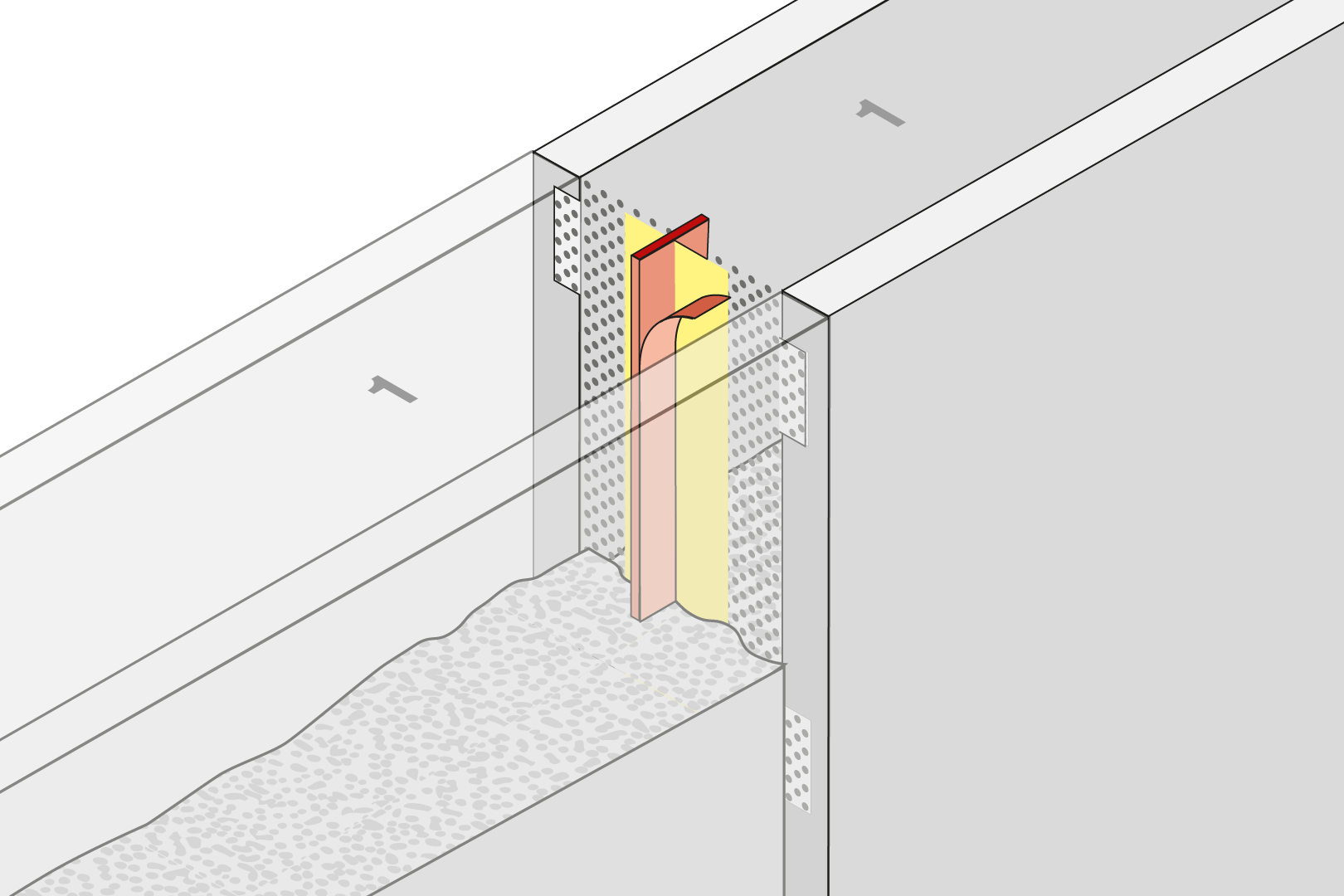 Controlled Crack Joint Formwork Element With Coated Metal Waterstop - Element Wall