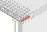 Controlled Crack Joint Wall Head With Coated Metal Waterstop - Element Wall