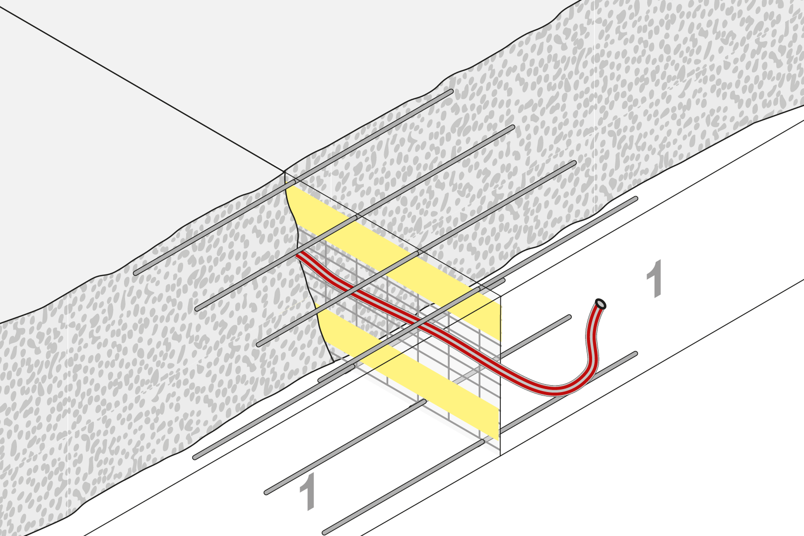 Controlled Crack Joint With Injection Hose - Slab