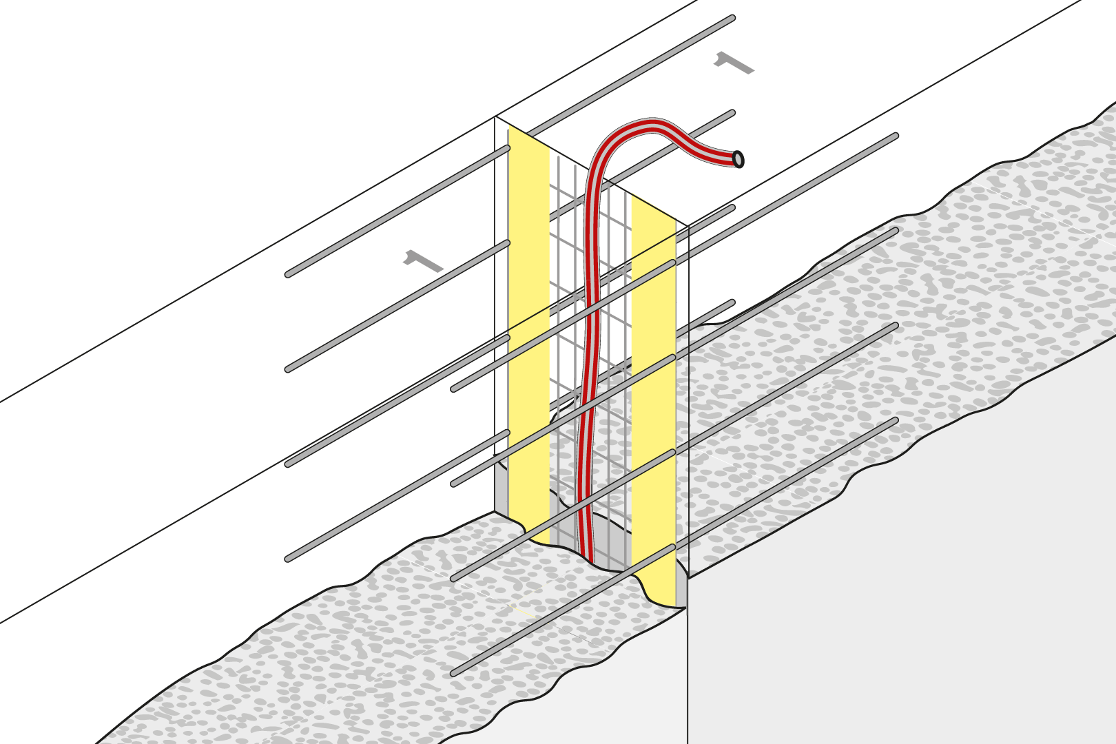 Controlled Crack Joint With Injection Hose - Wall