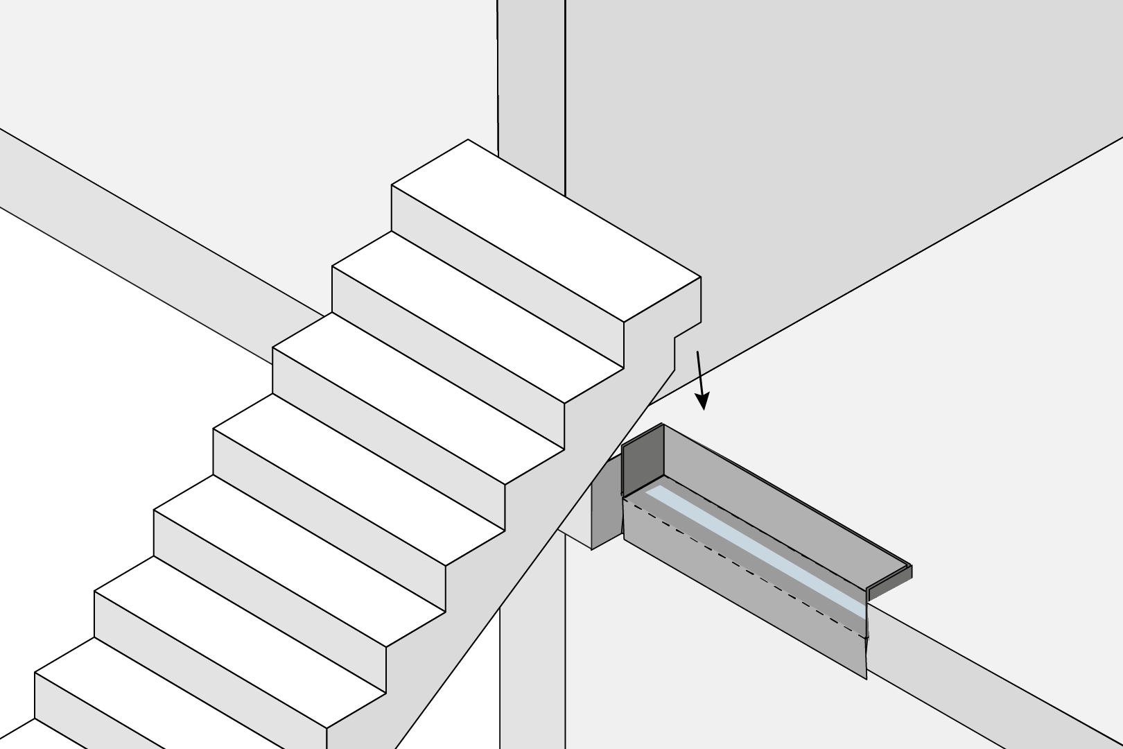 Stair Flight Decoupling With Bracket
