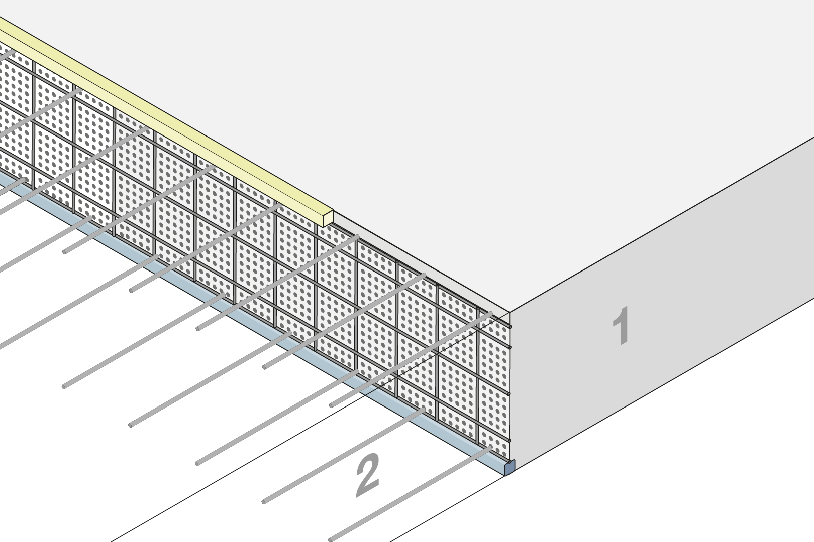 Construction Joint Formwork Element - Slab