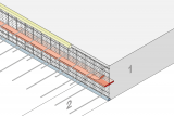 Construction Joint Formwork Element With Coated Metal Waterstop - Slab