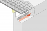 Construction Joint Formwork Element With Seal - Angled Edge Wall/Slab