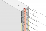 Construction Joint Formwork Element With Coated Metal Waterstop - Wall