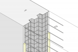 Construction Joint Formwork With Indentation - Wall