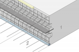 Construction Joint Formwork With Indentation And Metal Waterstop - Slab