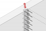 Construction Joint With Reinforcement Connection With Shear Indentation For Force Transmission