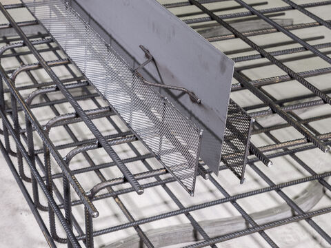 Formwork elements for working joints Stremaform® – custom shapes
