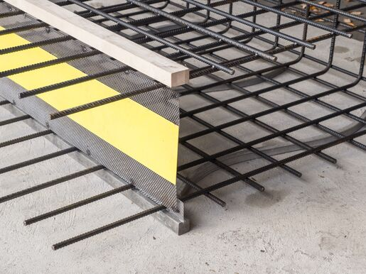 Formwork elements for controlled crack joints Stremaform®