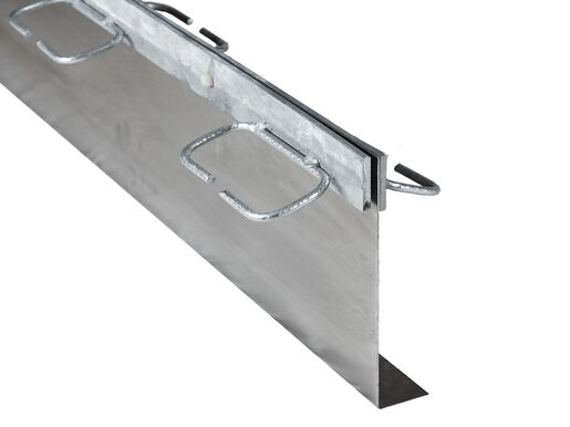 Formwork elements for armoured separation joints Splitboard® with edge protection profile