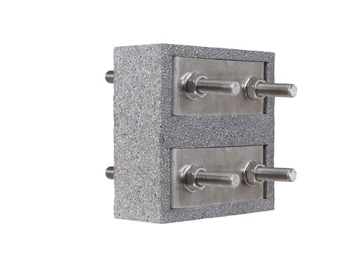 Steel thermal break connector Egcobox® FST-0/n - cantilevered steel structures with fluctuating requirements