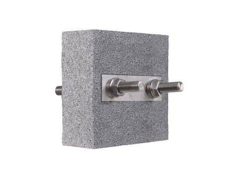 Steel thermal break connector Egcobox® FST-1/0 - horizontal fixture