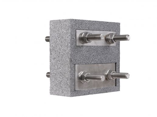 Steel thermal break connector Egcobox® FST-n/n - cantilevered steel structures