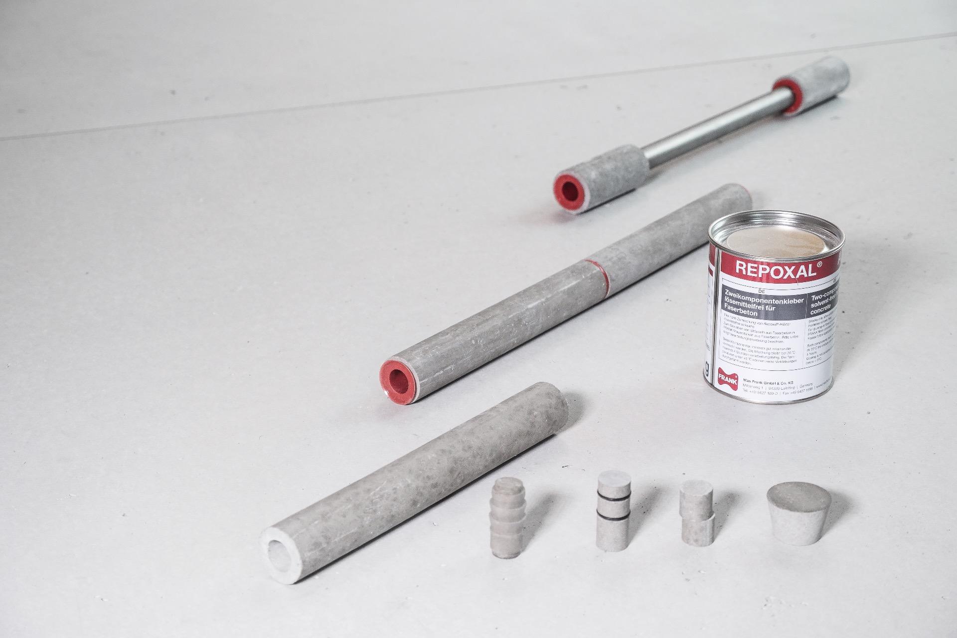 Cast Concrete Spacers : Fibre concrete distance tubes max frank