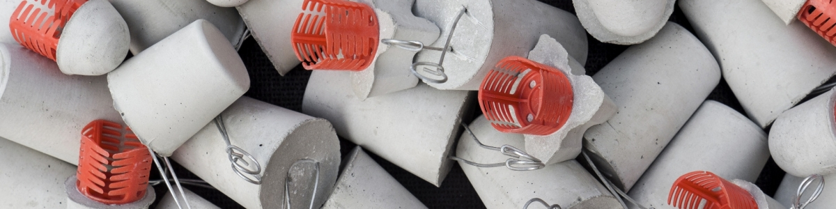 Cast concrete spacers