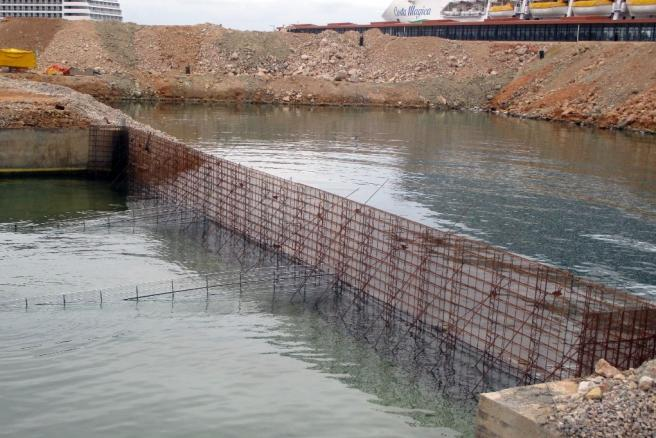 Simplified underwater concreting with Stremaform® formwork element