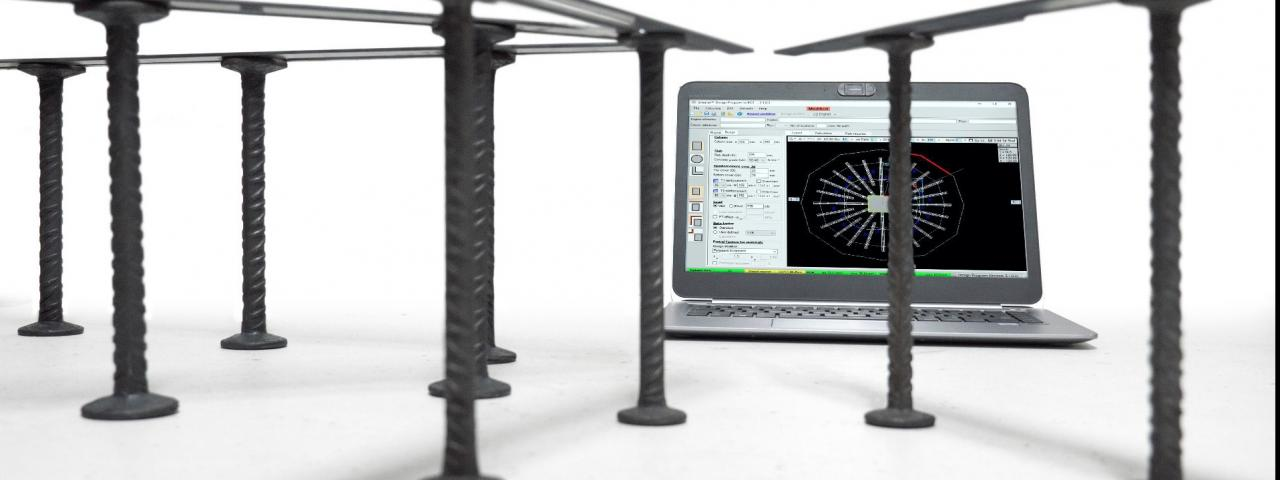 Shearail punching shear reinforcement software