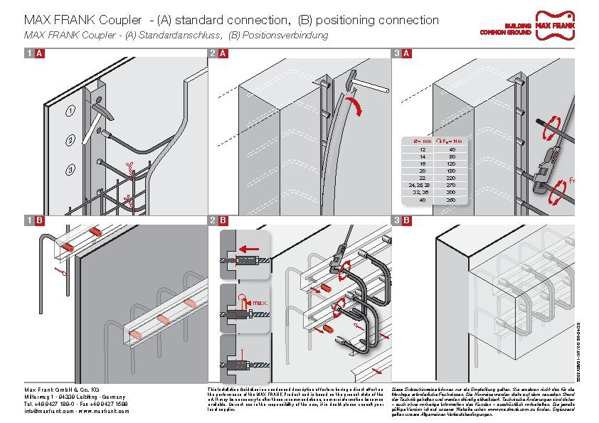 MAX FRANK Coupler threaded connection application