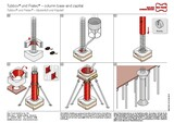 Shaping formwork Fratec® for column base and capital