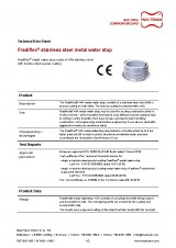 Metal water stop Fradiflex® stainless steel