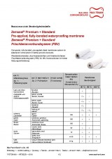 Sub-structure waterproofing system Zemseal® resistance table
