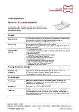 Sub-structure waterproofing system Zemseal® universal corner