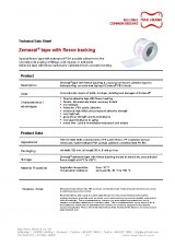 Sub-structure waterproofing system Zemseal® acryl tape with fleece backing