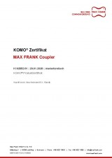 KOMO® certificate BRL0504, Mechanical connection reinforcing steel