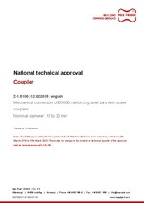 Coupler - National technical approval Z-1.5-100
