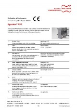 Declaration of performance CE steel thermal break connector Egcobox® FST