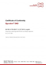 Egcodorn® DND Certificate of Conformity acc. to approval No. Z-15.7-266