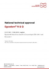 Egcodorn® for longitudinal and lateral movement  - National technical approval Z-15.7-301