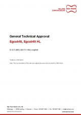Egcotritt, Egcotritt HL - General Technical Approval