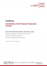 Conformity of the Factory Production Control
