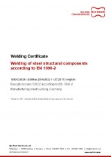 Welding Certificate EXC2 according to EN1090-2