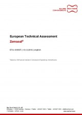 Sub-structure waterproofing system Zemseal® - ETA - European Technical Assessment