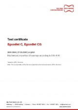 Egcodist C, Egcodist CG - Test certificate