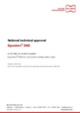 Egcodorn® DND - National technical approval Z-15.7-266
