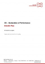 Intectin Plus - CE–Declaration of Performance