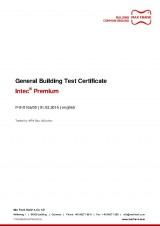 Intec® Premium - General Building Test Certificate