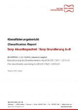 Sorp Akustikspachtel / Sorp Grundierung A+B - Classification Report