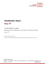 Sorp 10® - Classification Report