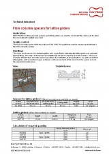 Fibre concrete spacers for lattice girders